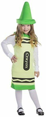 Dress Up America Kids Green Crayon Costume