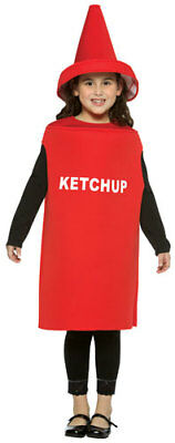 Ketchup Bottle Sizes (Ketchup Bottle Kids Halloween Costume size)
