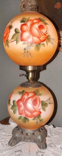 Antique Double Globe Lamp Ebay