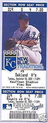 Kansas City Royals Oakland Athletics 9/2/08 Full Unused Ticket