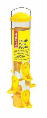 Stokes Thistle Tube Bird Feeder with Six Feeding Ports,Yellow,1.6lb Capacity