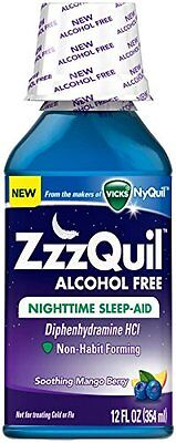 2 Pack ZzZQuil Nighttime Sleep-Aid Alcohol Free 12 Oz Each