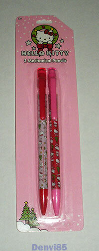 "VERY CUTE! 2014 Sanrio HELLO KITTY ""Christmas"" Pair of Mechanical Pencils! NEW!"