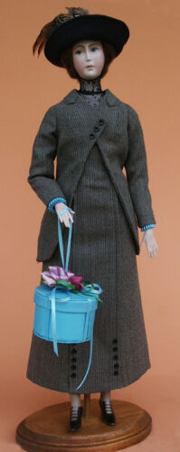 """1912 Traveling Suit Sewing Pattern for a 17"""" doll #107"""