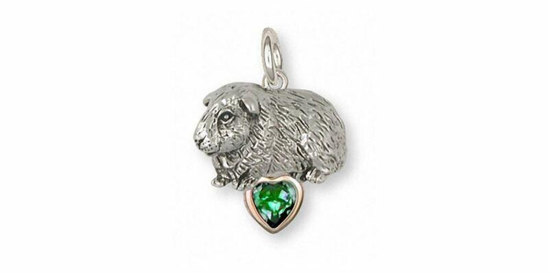 Guinea Pig Charm Jewelry Silver And Gold Handmade Piggie Charm GP7-TNSP