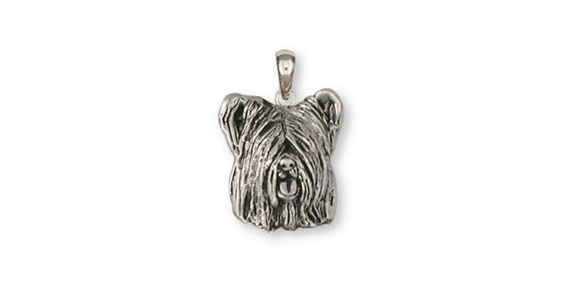 Skye Terrier Pendant Jewelry Sterling Silver Handmade Dog Pendant SKY4-P