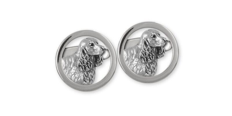 Springer Spaniel Cufflinks Jewelry Sterling Silver Handmade Dog Cufflinks SS5-CL