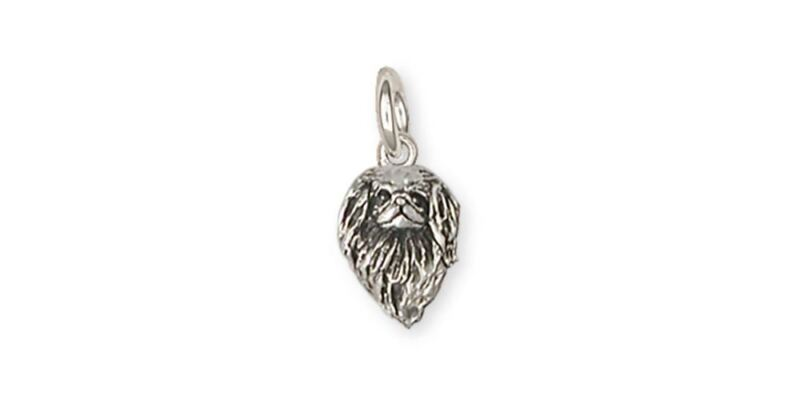 Japanese Chin Charm Jewelry Sterling Silver Handmade Dog Charm JC9-C