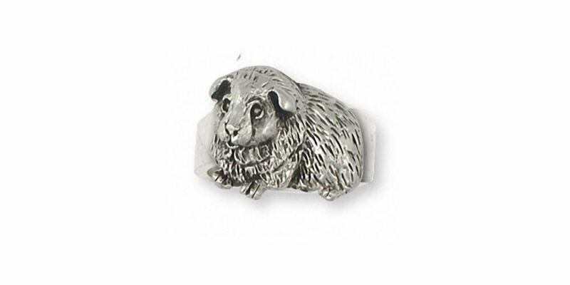 Guinea Pig Ring Jewelry Sterling Silver Handmade Piggie Ring GP8-R