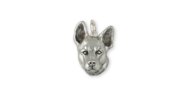 Australian Cattle Dog Charm Jewelry Sterling Silver Handmade Dog Charm ACD7-C