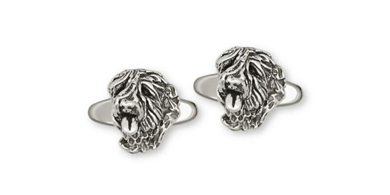 Soft Coated Wheaten Cufflinks Jewelry Sterling Silver Handmade Dog Cufflinks CH2