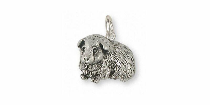 Guinea Pig Charm Jewelry Sterling Silver Handmade Piggie Charm GP8-C