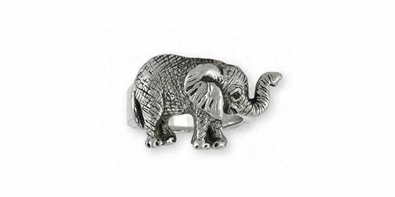 Elephant Jewelry Sterling Silver Elephant Ring Handmade Wildlife Jewelry EL5-R