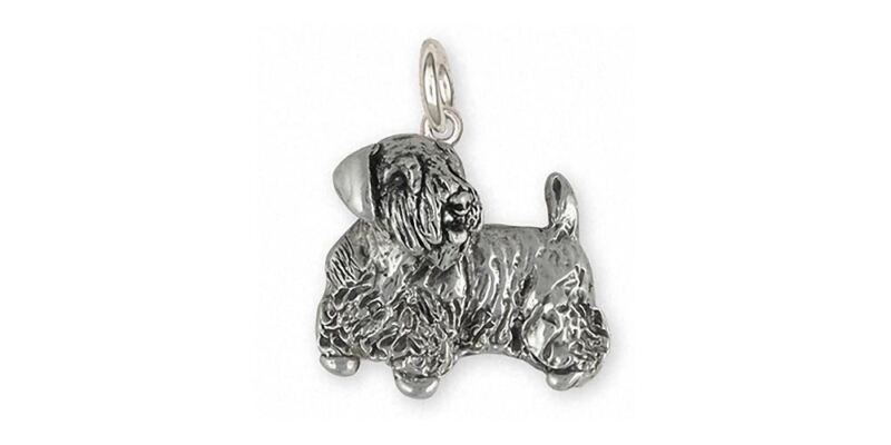 Sealyham Terrier Charm Jewelry Sterling Silver Handmade Dog Charm SEM2-C