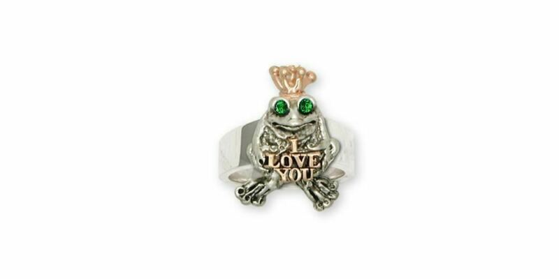 Frog Ring Jewelry Silver And Gold Handmade Frog Ring FG18L-TTR