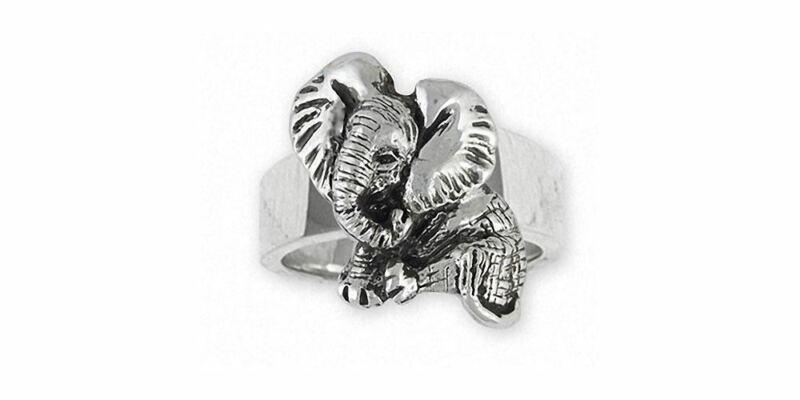 Elephant Jewelry Sterling Silver Elephant Ring Handmade Wildlife Jewelry EL4-R