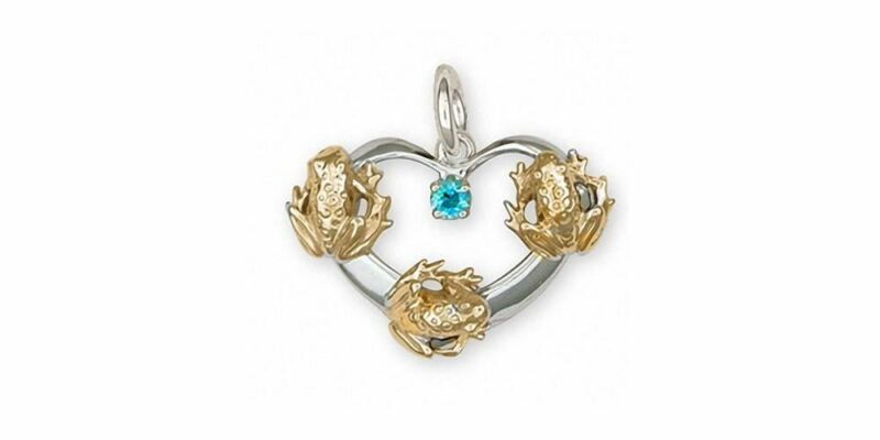 Frog Charm Jewelry Silver And Gold Handmade Frog Charm FG20-TTSC