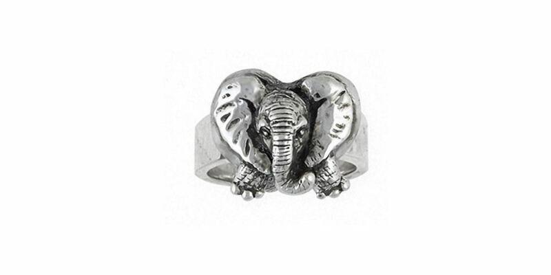 Elephant Jewelry Sterling Silver Elephant Ring Handmade Wildlife Jewelry EL8-R