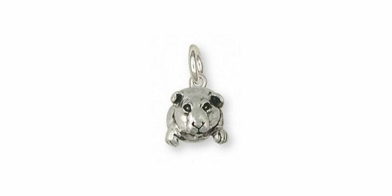 Guinea Pig Charm Jewelry Sterling Silver Handmade Piggie Charm GP10-C