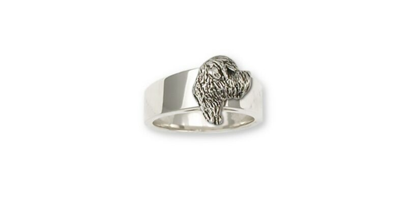 Soft Coated Wheaten Ring Jewelry Sterling Silver Handmade Dog Ring SCW8-R
