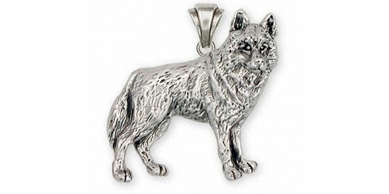 Siberian Husky Pendant Jewelry Sterling Silver Handmade Dog Pendant SB2-P