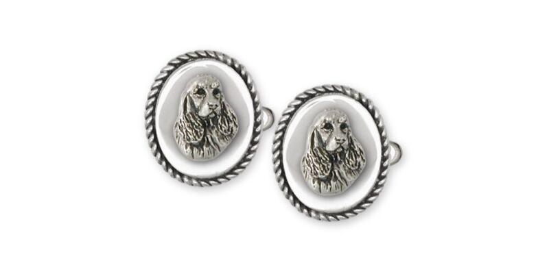 Springer Spaniel Cufflinks Jewelry Sterling Silver Handmade Dog Cufflinks SS4-CL