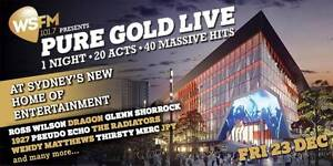 2 x PURE GOLD LIVE TICKETS Kellyville Ridge Blacktown Area Preview