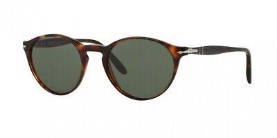 Persol Men's PO3092SM-901531-50 Tortoiseshell Round Sunglass