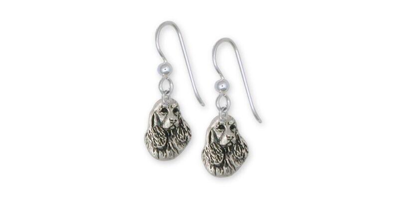 Springer Spaniel Earrings Jewelry Sterling Silver Handmade Dog Earrings SS4-FW