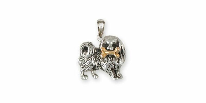 Japanese Chin Pendant Jewelry Silver And 14k Gold Handmade Chin Pendant JC1N-TNP