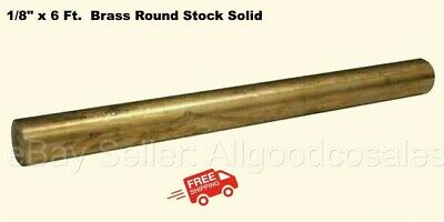 18 X 6 Ft. Brass Round Stock Solid 72 Long Rod Mill Finish New