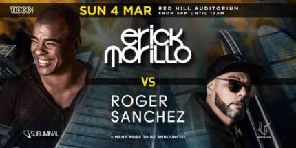 Erick Morillo and Roger Sanchez tickets x 2