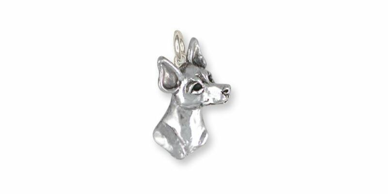 Rat Terrier Charm Jewelry Sterling Silver Handmade Dog Charm RTT2-C
