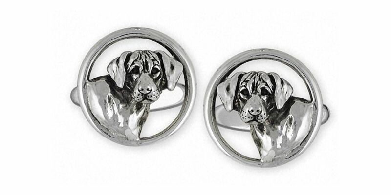 Rhodesian Ridgeback Cufflinks Jewelry Sterling Silver Handmade Dog Cufflinks RDG
