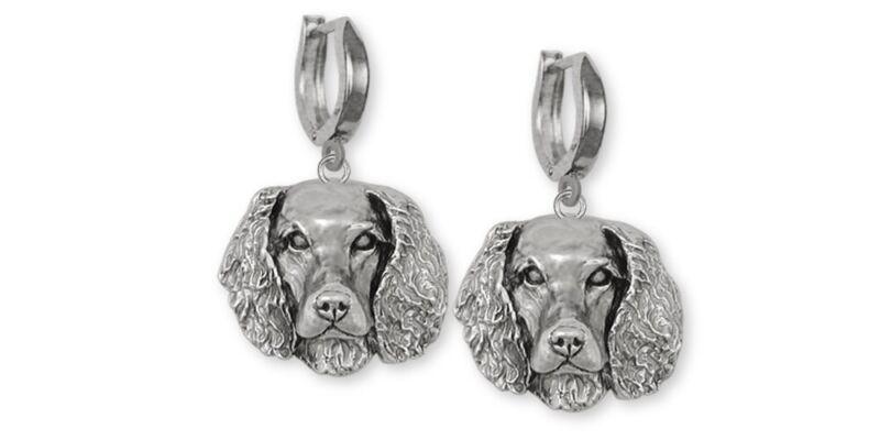 Springer Spaniel Earrings Jewelry Sterling Silver Handmade Dog Earrings SPS-E