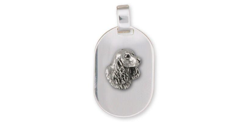 Springer Spaniel Pendant Jewelry Sterling Silver Handmade Dog Pendant SS6S-DT