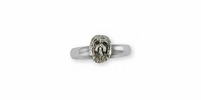 Tibetan Terrier Ring Jewelry Sterling Silver Handmade Dog Ring TTR1H-R