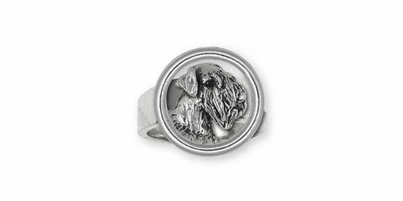 Sealyham Terrier Ring Jewelry Sterling Silver Handmade Dog Ring SEM1H-DR