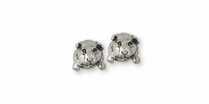 Guinea Pig Earrings Jewelry Sterling Silver Handmade Piggie Earrings GP10-E