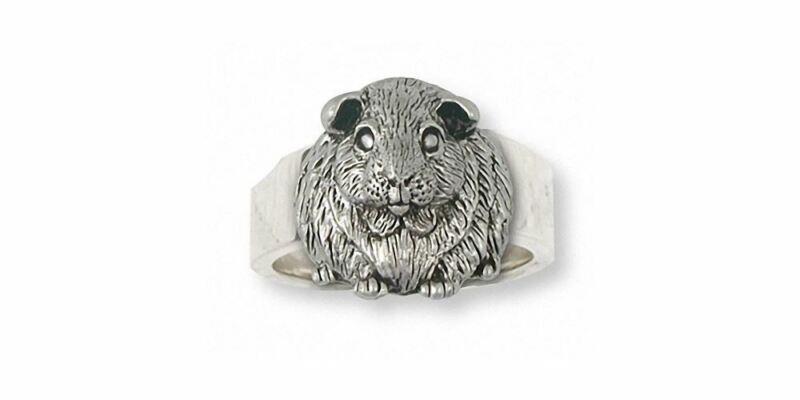 Guinea Pig Ring Jewelry Sterling Silver Handmade Piggie Ring GP1-R