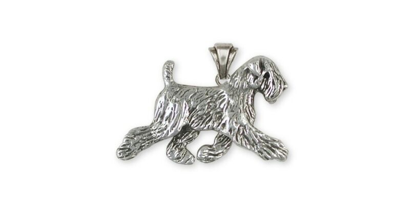Soft Coated Wheaten Pendant Jewelry Sterling Silver Handmade Dog Pendant SCW11-P