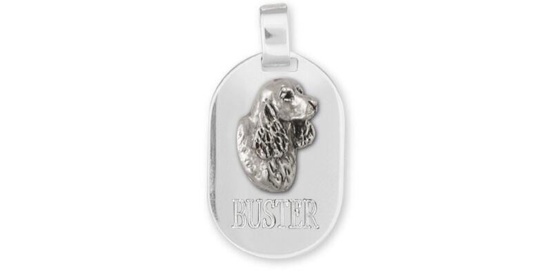 Springer Spaniel Pendant Jewelry Sterling Silver Handmade Dog Pendant SS6-DT