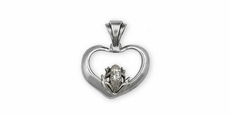 Frog Pendant Jewelry Sterling Silver Handmade Frog Pendant FGH1-P