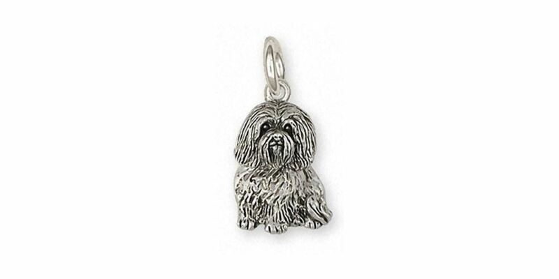 Havanese Charm Jewelry Sterling Silver Handmade Dog Charm HV43X-C
