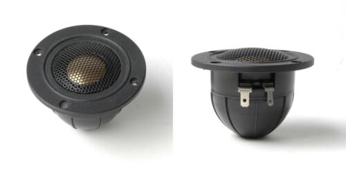 "NEW (2) 1"" Dome Tweeter Speakers.Home Audio.6ohm.2.8"" frame.Replacement PAIR"