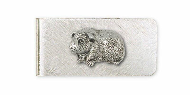 Guinea Pig Money Clip Jewelry Sterling Silver Handmade Piggie Money Clip GP6-MC