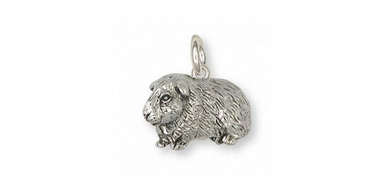 Guinea Pig Charm Jewelry Sterling Silver Handmade Piggie Charm GP7-C