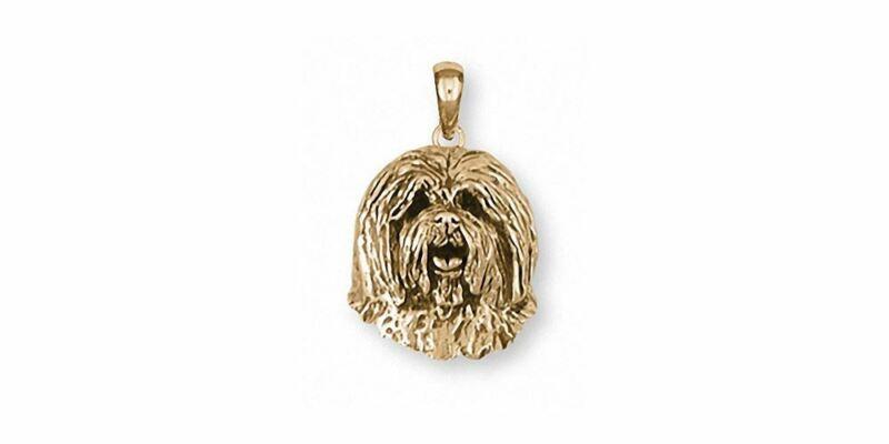 Old English Sheepdog Pendant Jewelry 14k Gold Handmade Dog Pendant OESH-PG