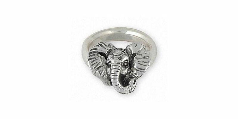 Elephant Jewelry Sterling Silver Elephant Ring Handmade Wildlife Jewelry EL7H-R