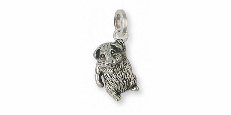 Guinea Pig Charm Jewelry Sterling Silver Handmade Piggie Charm GP3-C
